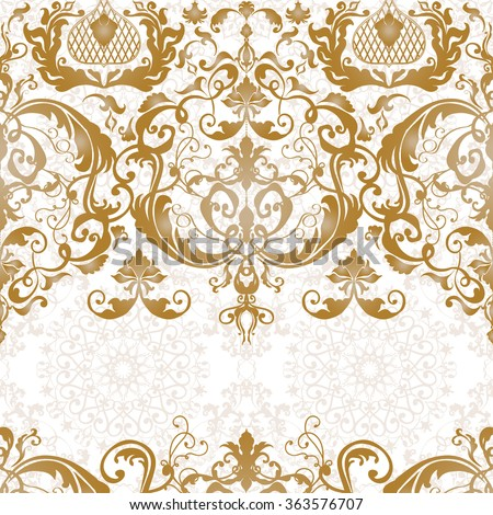 Vector Illustration Luxury Texture For Wallpapers Fabric Patterns Baroque Damask Seamless Floral Pattern