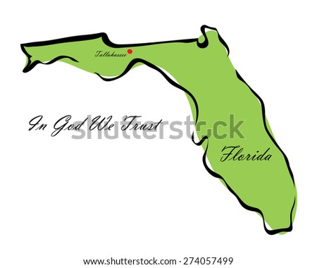 Vector illustration map Florida of America isolated on a white background? - stock vector
