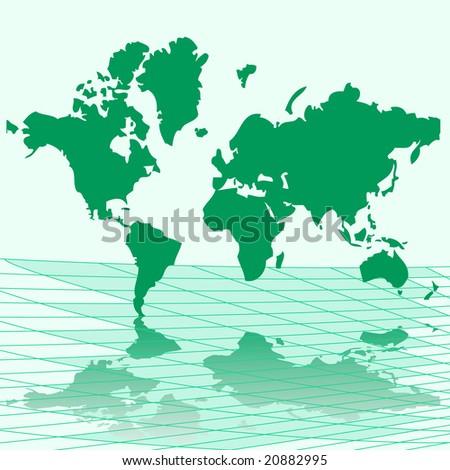 Vector illustration map of world - stock vector