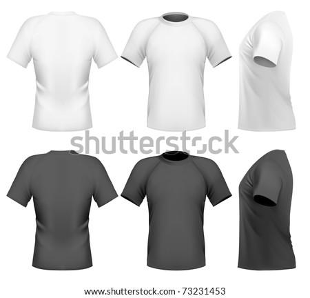 Vector illustration. Men's t-shirt design template - stock vector