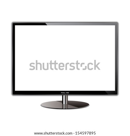 vector illustration monitor tv. eps10 - stock vector