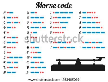 Morse key stock images royalty free images vectors shutterstock morse code and silhouette morse key asfbconference2016 Choice Image