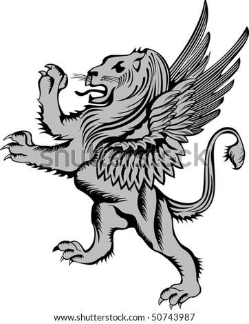 rampant wolf illustration heraldry tattoo design stock vector 461096668 shutterstock. Black Bedroom Furniture Sets. Home Design Ideas