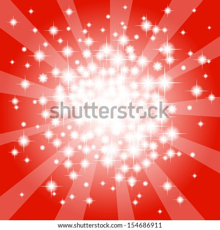 vector illustration of a abstract red star background  - stock vector