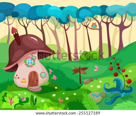 vector illustration of a anture background - stock vector