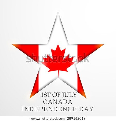 Vector illustration of a awesome greeting card for Happy Canada Day. - stock vector