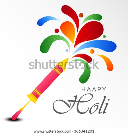 Vector illustration of a background for colorful festival of Holi. - stock vector
