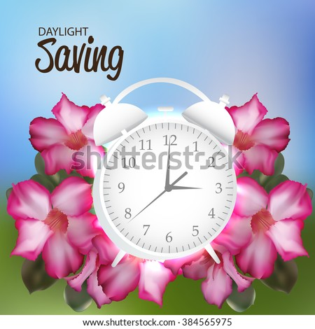 Vector illustration of a background for Daylight Saving. - stock vector