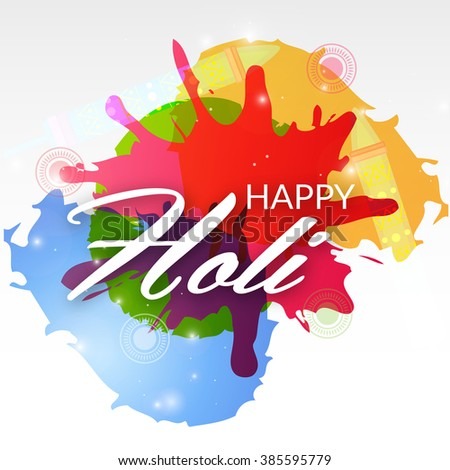 Vector illustration of a background for Indian Festival Holi celebration.