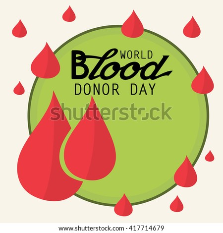 Vector illustration of a background for World blood donor day.