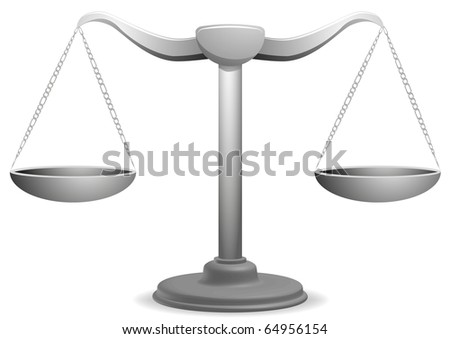 vector illustration of  a balance - stock vector