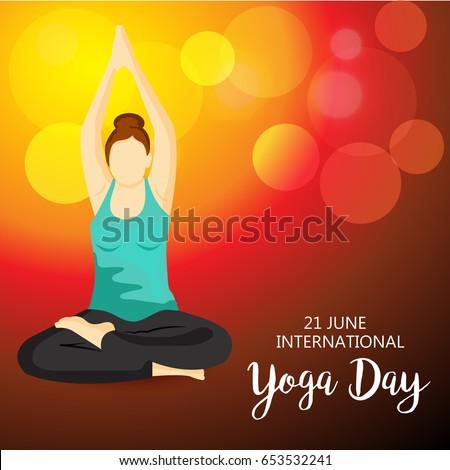 Vector Illustration Of A Banner For International Yoga Day