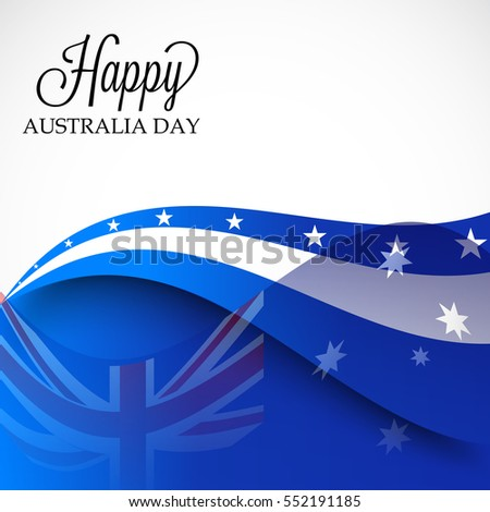 Vector illustration of a Banner or Poster for Happy Australia Day.