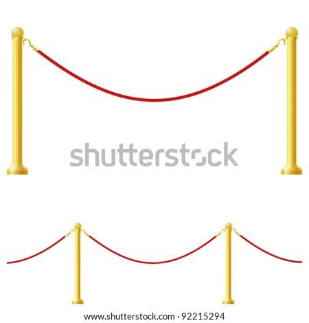 Vector illustration of a barrier - stock vector
