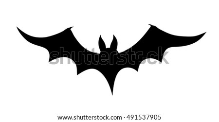 Vector illustration of a bat silhouette