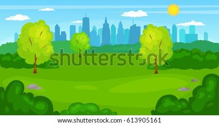 city park cartoon - photo #32