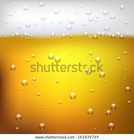 Vector illustration of a beer texture close up - stock vector