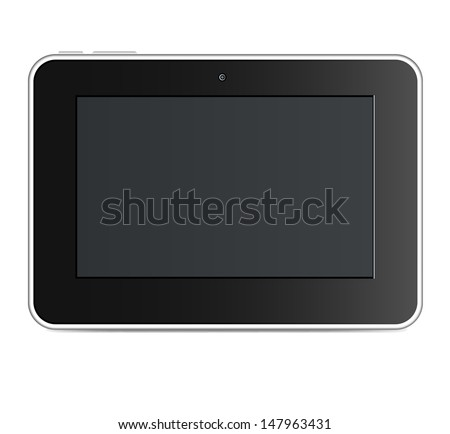 Vector illustration of a black tablet - stock vector