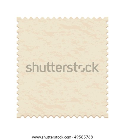 vector illustration of a  blank old post stamp - stock vector
