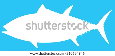 Vector illustration of a Blue Fin Tuna