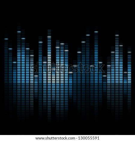 Vector Illustration of a Blue Music Equalizer - stock vector