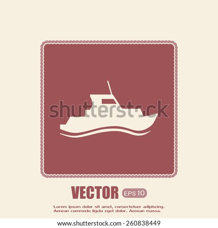 Vector illustration of a boat  - stock vector