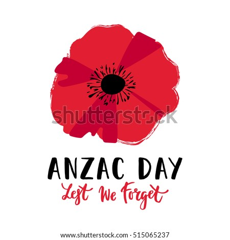 Vector illustration bright poppy flower remembrance stock vector vector illustration of a bright poppy flower remembrance day symbol lest we forget lettering mightylinksfo