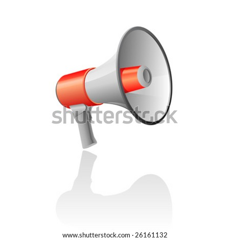 Vector illustration of a bullhorn - stock vector