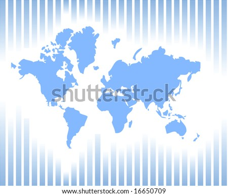 Vector illustration of a card of the world - stock vector