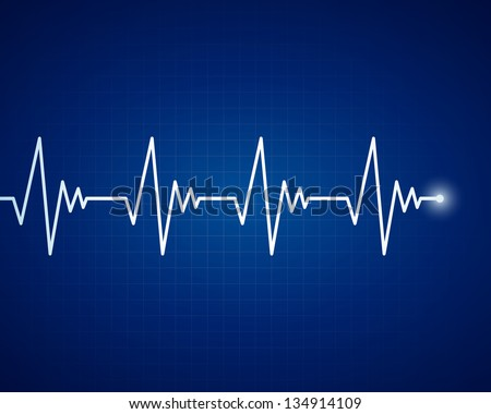 Vector Illustration of a  Cardiac Frequency - stock vector