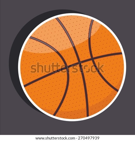 Vector illustration of a cartoon stickers of basketball - stock vector