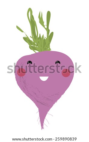 Vector illustration of a cartoon vegetable - Potato -  for kids education, designs and scrapbook decorations  - stock vector