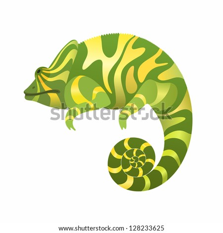 Vector Illustration of a Chameleon - stock vector