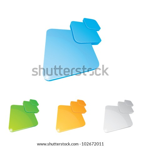 Vector illustration of a character on a white background - stock vector