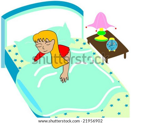 Vector illustration of a child sleeping