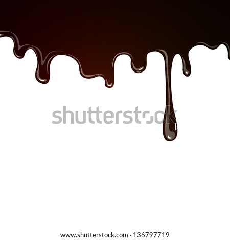 Vector Illustration of a Chocolate Background - stock vector