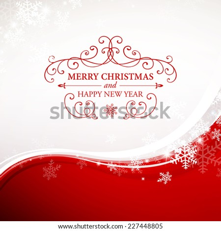 Vector Illustration of a Christmas Greeting Card - stock vector