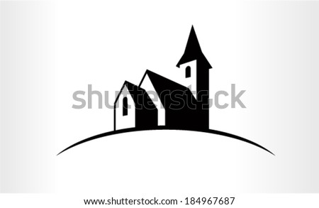 Vector Illustration of a Church