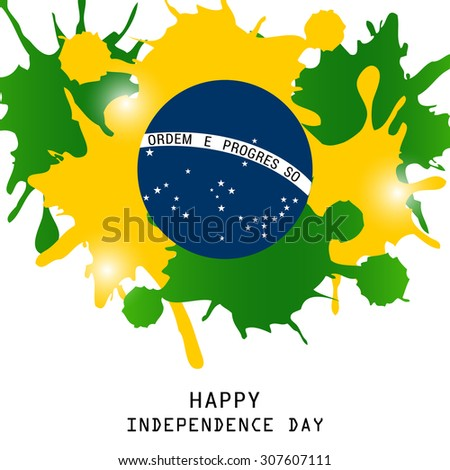 Vector illustration of a color Theme for Independence Day of Brazil. - stock vector