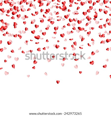 Vector Illustration of a Colorful Party Background with Confetti - stock vector