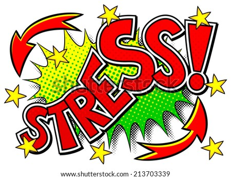 vector illustration of a comic sound effect stress - stock vector