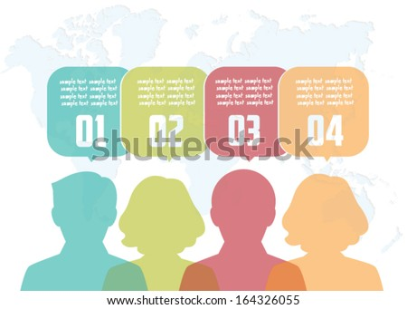 Vector illustration of a communication concept - stock vector
