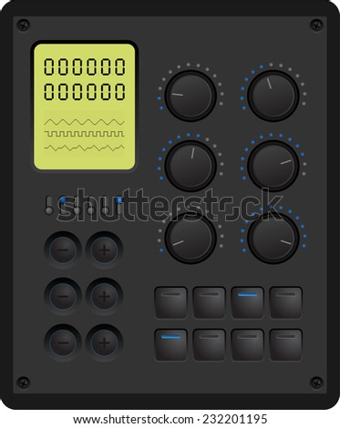 Vector illustration of a control panel for a digital device