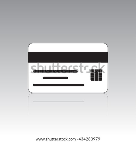 vector illustration of a credit card icon - stock vector
