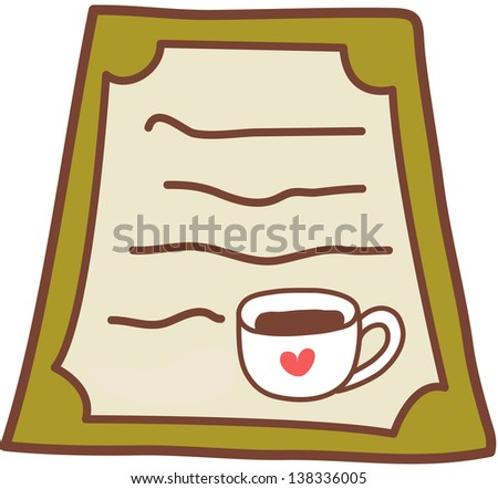 Vector illustration of a cup of coffee