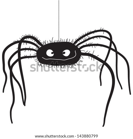 Vector illustration of a cute insect - Spider