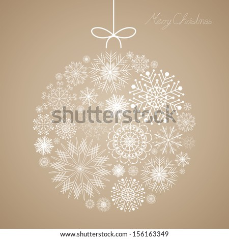 Vector Illustration of a Decorative Christmas Background - stock vector
