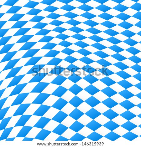 vector illustration of a diamond pattern in blue and white  - stock vector