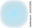 vector illustration of a dotted halftone background - stock vector