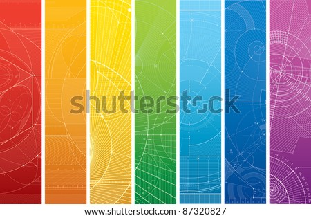 Vector illustration of a draft pattern. Can be easily colored and used in your design. - stock vector